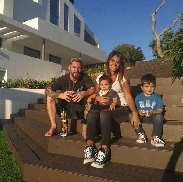 Hình ảnh gia đình Messi