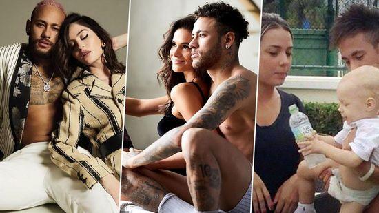 """Neymar với """"bộ sưu tập"""" 10 người tình cực nóng bỏng"""